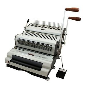 New Akiles Duomac C41eci Plastic Comb And 4 1 Coil Binding Machine