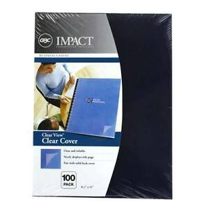 New Gbc Clear View 8 5 X 11 Presentation Covers 100pk 2020034