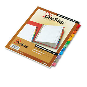 New Cardinal Multi color Table Of Contents month Tab Divider 24pk