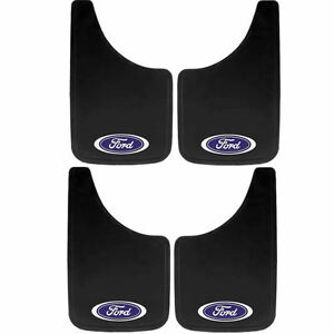 4pc Ford Built Tough Oval Logo 11x19 Mud Splash Guards Flaps For Car Truck Suv