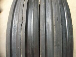 Two New 600x16 600 16 6 00 16 Thorn Resistant 6 Ply Triple Rib Tires
