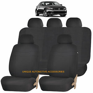 Black Elegance Front Back Seat Covers Set For Scion Tc Xb