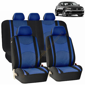 Blue Front Back Split Bench Seat Covers 9pc Set For Scion Tc Xb