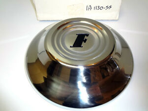 Ford Car Polished Stainless Steel Hubcap With Logo 51 1951