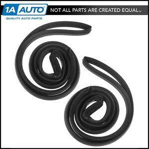 Rear Door Seals Rubber Weatherstrip Pair Set For Buick Chevy Oldsmobile Sedan
