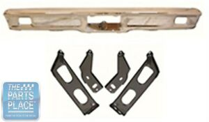 1964 Ford Galaxie Front Bumper Bracket Set New 4 Pieces
