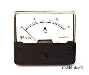 Ac 0 15a Analog Current Panel Meter