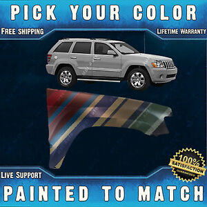 New Painted To Match Front Rh Right Fender For 2005 2010 Jeep Grand Cherokee