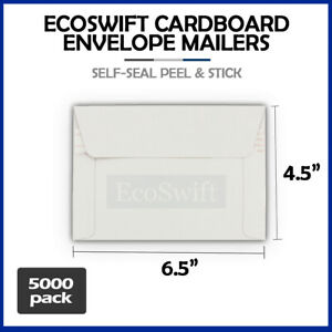 5000 6 5 X 4 5 Self Seal Rigid Photo Shipping Flats Cardboard Envelope Mailers