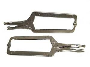 18 Locking C Clamp With Swivel Pad Welding Locking Pliers Clamps 2pcs Set Tools