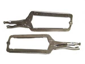 2 18 Locking C Clamp With Swivel Pad Set Welding Locking Pliers Clamps Tools