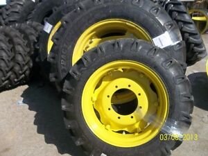 John Deere 5055e Two 14 9x28 Tractor Tires W rims Two 9 5x24 Tires W rims