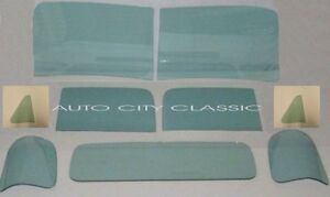 Glass 1951 1952 1953 Chevy Gmc Pickup Truck Windshield Vent Door 3pc Back Green