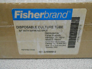 Fisherbrand Disposable Culture Tubes 14 959 35c