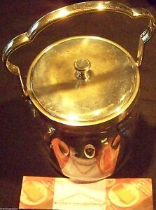 Wmf Silver On Brass Handled Cut Glass Biscuit Jar With Lid Fancy Serving Item