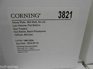 Corning 3821 Low Volume 384 Well Microplates Qty 10 Pk