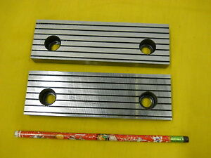 Set Of 2 New Vise Jaws Mill Milling Machine Work Holder Tool 5 8 X 2 X 6 1 4