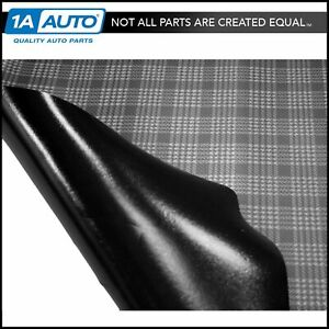 Gray Plaid Print Trunk Mat For 68 70 Dodge Charger