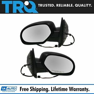 Side View Mirrors Power Heated Textured Black Lh Rh Pair Set For Chevy Gmc
