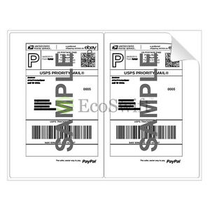 1000 8 5 X 5 5 Xl Premium Shipping Half sheet Self adhesive Ebay Paypal Labels