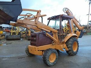 Case Super 580k Backoe 4x4 Drive Exhoe Rob cab diesel