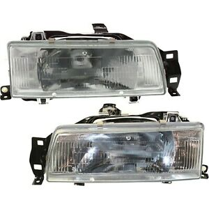 Headlight Set For 88 92 Toyota Corolla Sedan Or Wagon Left And Right With Bulb