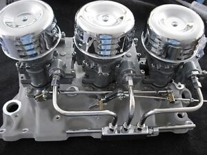 Vintage Speed s Rochester 2g Tri Power Hot Rod Rat Offy Complete Fuel Setup