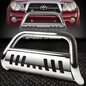 For 05 15 Toyota Tacoma Truck 2wd 4wd Chrome Bull Bar Push Bumper Grille Guard