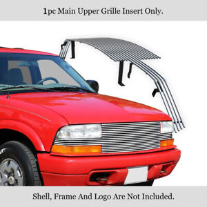 Fits 1998 2004 Chevy S 10 Pickup Blazer Full Face Billet Grille Grill Insert