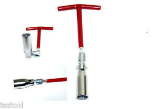 T Handle Universal Joint Spark Plug Socket Wrench 5 8 16mm Remover Installer