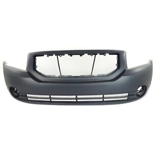 Front Bumper Cover For 2007 2012 Dodge Caliber W Fog Lamp Holes Primed
