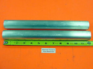 2 Pieces 1 6061 Aluminum Round Rod 12 Long T6511 Solid Lathe Bar Stock