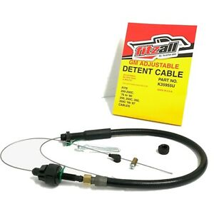 Turbo 350 Th350c Transmission Kick Down Detent Cable Braided Adjustable