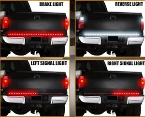 60 Red Led Tailgate Light Bar Strip W Reverse Light