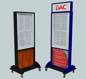 Elite Window Display Flat Panel Trade Show Home Show Rolling Double Hung