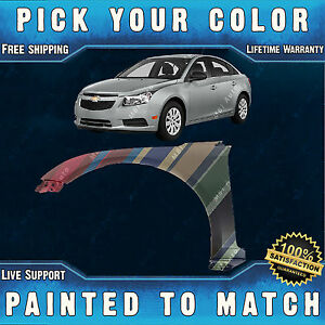 New Painted To Match Drivers Front Left Lh Fender For 2011 2015 Chevy Cruze