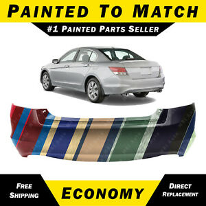 New Painted To Match Rear Bumper Cover For 2008 2012 Honda Accord Sedan V6 08 12