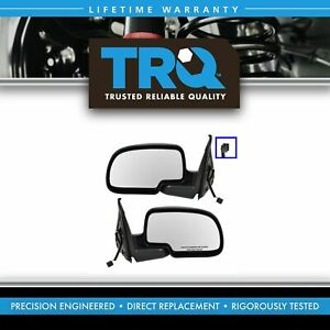 Flat Black Cap Power Side Mirrors Pair Set Left Right For Chevy Pickup Truck