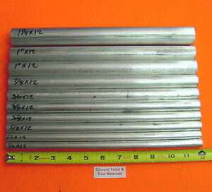 10 Pieces 6061 T6 Aluminum Round Rod Assortment 1 2 To 1 1 4 Lathe Stock 6 2