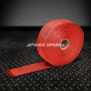 T1 Racing Exhaust Header Turbo Manifold Downpipe Heat Wrap 2 x 1 16 X 295 Red