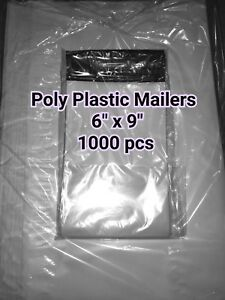 Lots Of 1000 1 6 x9 Poly Self Sealed Plastic Mailers Mailing Bags Envelopes