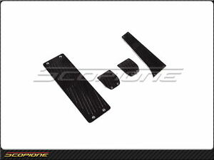 Scopione 02 08 Bmw 7 Series E65 Black line Carbon Fiber M t Pedal Set