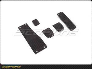 Scopione Mercedes benz 03 09 W209 Clk Black line Carbon Fiber M t Pedal Set