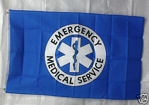 Ems Emergency Medical Flag 3 x5 Banner Store Concession Business Advert Frees h