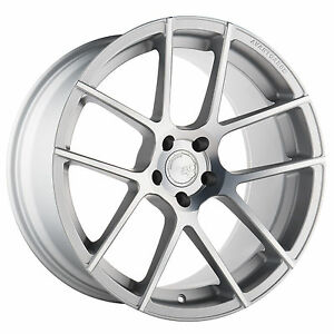 21 Avant Garde M510 Satin Silver Staggered 5x120