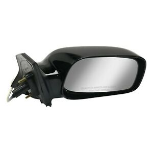 Side View Power Mirror Smooth Black Passenger Right Rh For 03 08 Toyota Corolla