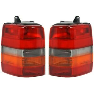 Set Of 2 Tail Light For 93 98 Jeep Grand Cherokee Limited Lh Rh
