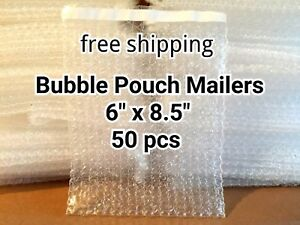 Lots Of 50 6 X 8 5 Bubble Out Bags Pouches Self Seal Mailers Bags Wrap Clear