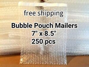 Lots Of 250 7 X 8 5 Bubble Out Bags Pouches Self Seal Mailers Bags Wrap Clear