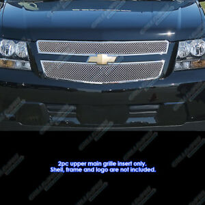 Fits 2009 2013 Chevy Tahoe Hybrid Stainless Steel X Mesh Grille Grill Insert